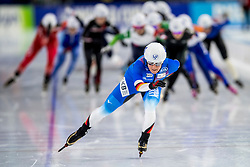 10-11-2017 NED: ISU World Cup, Heerenveen<br /> Massa start, Claudia  Pechstein GER