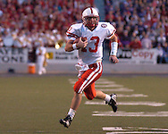 Nebraska quarterback Zac Taylor scrambles for a first down in the second quarter against Kansas State at Bill Snyder Family Stadium in Manhattan, Kansas, October 14, 2006.  The Huskers beat the Wildcats 21-3.<br />