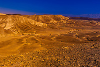 Rugged landscape of the Metzoke Dragot in the Judean Desert, near the Dead Sea, Israel.