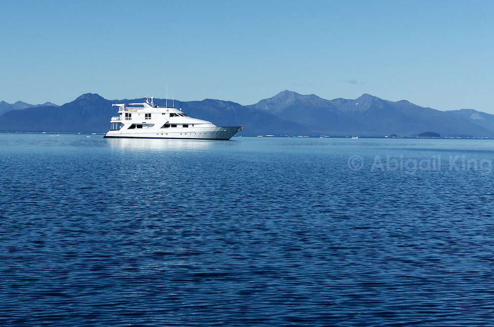 Safari Quest, a boat from American Safari Cruises, takes passengers on the InnerSea Disoveries trip through Alaska. Pictured near LeConte Bay