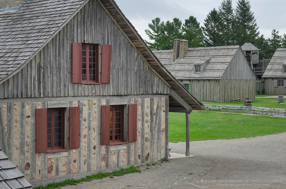 Colonial Michilimackinac, Mackinaw City Michigan.