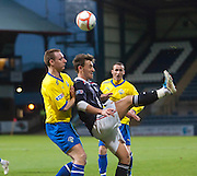 Dundee's Jake Hyde and Morton's Andy Graham -..- © David Young - .5 Foundry Place - .Monifieth - .DD5 4BB - .Telephone 07765 252616 - .email; davidyoungphoto@gmail.com - .web; www.davidyoungphoto.co.uk