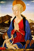 France, Paris, Musée du Louvre, Alesso Baldovinetti, Vierge à l'Enfant // France, Paris, Louvre Museum, Alesso Baldovinetti, Madonna and Child