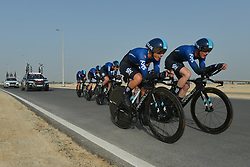 February 24, 2019 - Abu Dhabi, United Arab Emirates - Members of Team SKY in action, during the Team Time Trial, the opening ADNOC stage of the inaugural UAE Tour 2019..On Sunday, February 24, 2019, Abu Dhabi, United Arab Emirates. (Credit Image: © Artur Widak/NurPhoto via ZUMA Press)