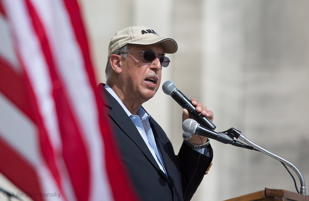 March 8, 2014, Baton Rouge Louisiana, Retired, U.S. Army General Russell L. Honore speaks in front of the State Capitol  to a crowd of over one hundred people at the Water Festival a 'Green Army' event.<br /> Speakers including John Barry, former board member of the Southeast Louisiana Flood Protection Authority spoke about industry in Louisiana and their role in restoring the coast. General Honore formed a 'Green Army 'to help citizens negatively effected by industry, change laws to protect the environmental in Louisiana.