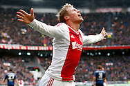 Onderwerp/Subject: Eredivisie<br /> Reklame:  <br /> Club/Team/Country: <br /> Seizoen/Season: 2012/2013<br /> FOTO/PHOTO: Viktor FISCHER of Ajax celebrating his goal ( 1 - 0 ). (Photo by PICS UNITED)<br /> <br /> Trefwoorden/Keywords: <br /> #02 #09 #17 $94 ±1355239233217<br /> Photo- & Copyrights © PICS UNITED <br /> P.O. Box 7164 - 5605 BE  EINDHOVEN (THE NETHERLANDS) <br /> Phone +31 (0)40 296 28 00 <br /> Fax +31 (0) 40 248 47 43 <br /> http://www.pics-united.com <br /> e-mail : sales@pics-united.com (If you would like to raise any issues regarding any aspects of products / service of PICS UNITED) or <br /> e-mail : sales@pics-united.com   <br /> <br /> ATTENTIE: <br /> Publicatie ook bij aanbieding door derden is slechts toegestaan na verkregen toestemming van Pics United. <br /> VOLLEDIGE NAAMSVERMELDING IS VERPLICHT! (© PICS UNITED/Naam Fotograaf, zie veld 4 van de bestandsinfo 'credits') <br /> ATTENTION:  <br /> © Pics United. Reproduction/publication of this photo by any parties is only permitted after authorisation is sought and obtained from  PICS UNITED- THE NETHERLANDS