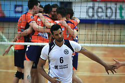 Israel Jose Dos Santos of Salonit at last final volleyball match of 1.DOL Radenska Classic between OK ACH Volley and Salonit Anhovo, on April 21, 2009, in Arena SGS Radovljica, Slovenia. ACH Volley won the match 3:0 and became Slovenian Champion. (Photo by Vid Ponikvar / Sportida)