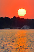 Sunset on Lake Muskoka, Near Gravenhurst, Ontario, Canada