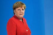 Meeting of NATO Heads of State and/or Government<br /> Brussels, Belgium -  Official portrait in the Agora<br /> <br /> On the photo:   German Chancellor Angela Merkel,
