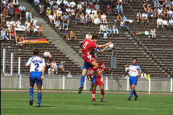 BERLIN, GERMANY - Sunday, August 7, 1994: Liverpool's Robbie Fowler during a preseason friendly between Hertha BSC Berlin and Liverpool FC at the Olympiastadion. Liverpool won 3-0. (Pic by David Rawcliffe/Propaganda)