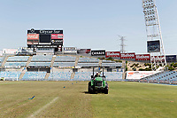 Upgrading works Lawn Alfoso Perez Coliseum. June 24, 2015. (ALTERPHOTOS/Acero)