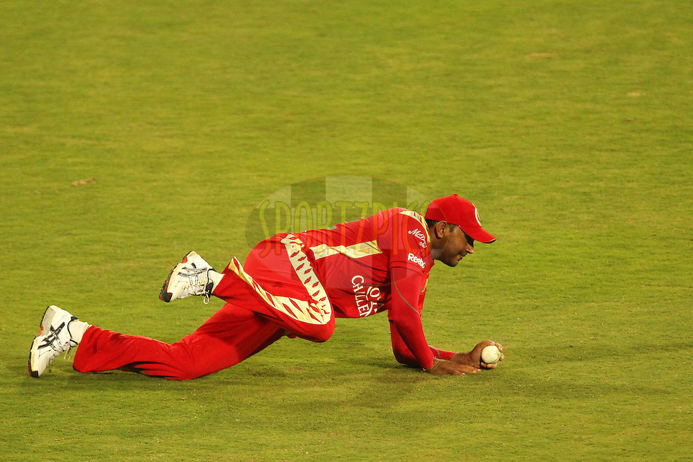 Nayan Doshi of the Royal Challengers Bangalore  during match 5 of the Airtel CLT20 held between the Royal Challengers Bangalore and Guyana at Supersport Park in Centurion on the 12 September 2010..Photo by: Ron Gaunt/SPORTZPICS/CLT20