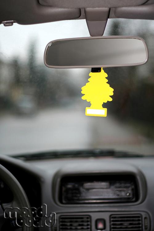 Close-up of car mirror