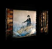 """projection at the """"Féte Des Lumiéres"""" art event in Villelongue 2017"""