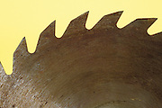 close up of circular saw blade