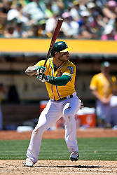 OAKLAND, CA - JUNE 18:  Brett Lawrie #15 of the Oakland Athletics at bat against the San Diego Padres during the fifth inning at O.co Coliseum on June 18, 2015 in Oakland, California. The San Diego Padres defeated the Oakland Athletics 3-1. (Photo by Jason O. Watson/Getty Images) *** Local Caption *** Brett Lawrie