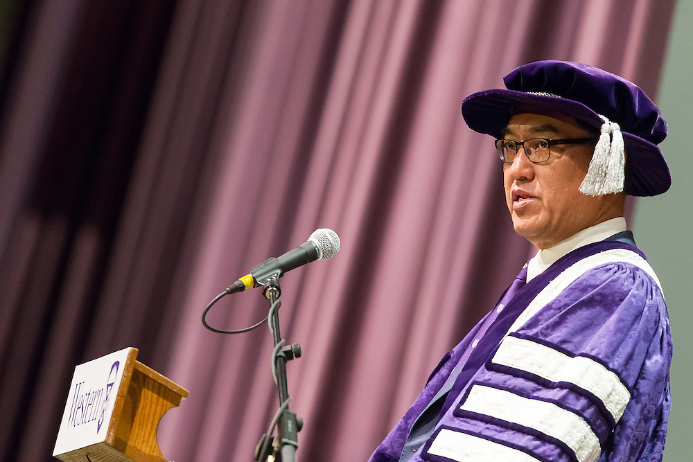 at Western Convocation at Alumni Hall in London Ontario, Friday,  October 23, 2015.<br /> Western University/ Geoff Robins