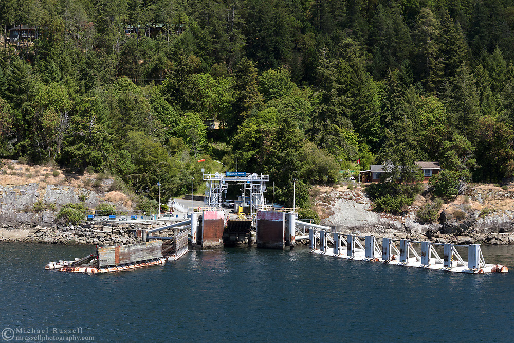 The Otter Bay Ferry Terminal on North Pender Island, British Columbia, Canada.
