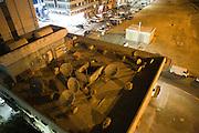 Abu Dhabi, United Arab Emirates (UAE)..February 3rd 2009..The roof of a building at night