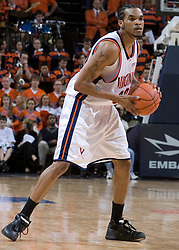 Virginia Cavaliers forward Adrian Joseph (30) in action against FSU.  The Virginia Cavaliers Men's Basketball Team defeated the Florida State Seminoles 73-70 at the John Paul Jones Arena in Charlottesville, VA on February 17, 2007.