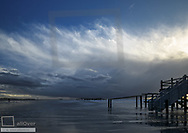 Gewitterfront an der Nordsee, St. Peter Ording, BRD