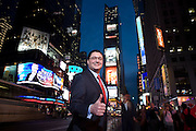 Robert Fiore Portrait in Times Square on April 10, 2008