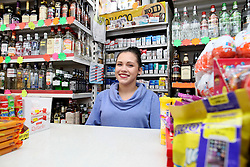 UK ENGLAND BOSTON 6SEP16 - Polish off-licence cashier Natalia Gierma (21) at Boston town centre.<br /> <br /> jre/Photo by Jiri Rezac<br /> <br /> © Jiri Rezac 2016