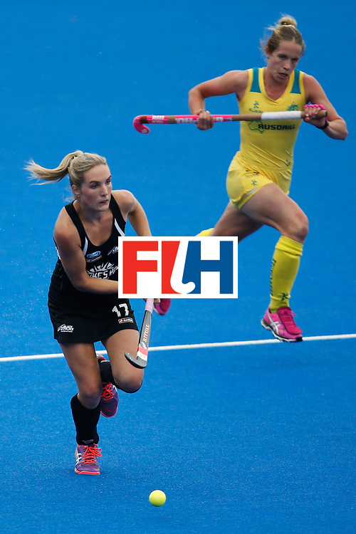 LONDON, ENGLAND - JUNE 19:  Sophie Cocks of New Zealand carries the ball during the FIH Women's Hockey Champions Trophy 2016 match between Australia and New Zealand at Queen Elizabeth Olympic Park on June 19, 2016 in London, England.  (Photo by Joel Ford/Getty Images)