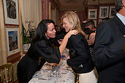 MANDA HARLECH; KATE MOSS;, Graydon Carter hosts a diner for Tom Ford to celebrate the London premiere of ' A Single Man' Harry's Bar. South Audley St. London. 1 February 2010
