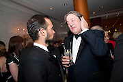 EVGENY LEBEDEV; STEPHEN FRY, 56th London Evening Standard Theatre Awards. Savoy Hotel. London. 28 November 2010.  -DO NOT ARCHIVE-© Copyright Photograph by Dafydd Jones. 248 Clapham Rd. London SW9 0PZ. Tel 0207 820 0771. www.dafjones.com.