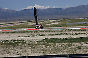 Team Aprilia USA unveiled the 2010 Aprilia RSV4 Factory street legal racebike at Miller Motorsports Park in Tooele, Utah, during the only US stop of World Superbike Championship motocycle racing May 30, 2009...