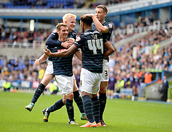Derby County's Jordan Ibe celebrates with his team mates. - Photo mandatory by-line: Alex James/JMP - Mobile: 07966 386802 - 18/10/2014 - SPORT - Football - Reading - Madejski Stadium - Reading v Derby County - Sky Bet Championship