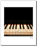 Piano Keys, 1990 11x14 signed archival pigment print free shipping USA