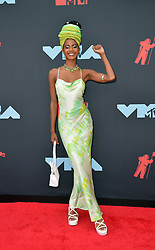 August 26, 2019, New York, New York, United States: Ebonee Davis arriving at the 2019 MTV Video Music Awards at the Prudential Center on August 26, 2019 in Newark, New Jersey  (Credit Image: © Kristin Callahan/Ace Pictures via ZUMA Press)