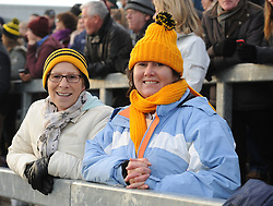 Louisburgh supporters Teresa Maybury and Christine Duffy enjoying the Connacht Junior football final in Kiltoom.<br />