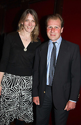 HARRY DUNLOP and his wife CHRISTINA at a party to celebrate the launch of Ladies' Day at The Vodafone Derby Festival held at Frankie's Bar & Grill, 3 Yeomans Row, London SW7 on 19th April 2005.<br /><br />NON EXCLUSIVE - WORLD RIGHTS