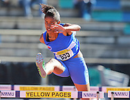 PORT ELIZABETH, SOUTH AFRICA, Friday 13 April 2012, Samantha Ross of Western Province in the 100m hurdles during the Yellow Pages South African Senior and Combined Events Championships held at the Xerox Nelson Mandela Metropolitan University, Nelson Mandela Bay..Photo by Roger Sedres/Image SA/ASA