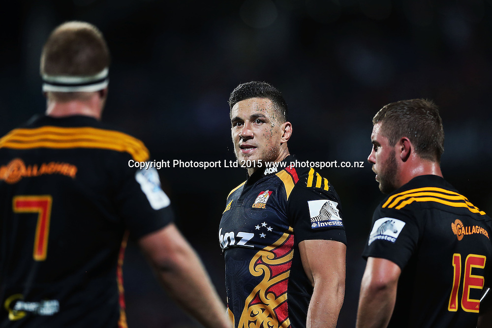 Sonny Bill Williams of the Chiefs looks on. Super Rugby match, Blues v Chiefs at QBE Stadium, Auckland, New Zealand. Saturday 14 February 2015. Photo: Anthony Au-Yeung / www.photosport.co.nz