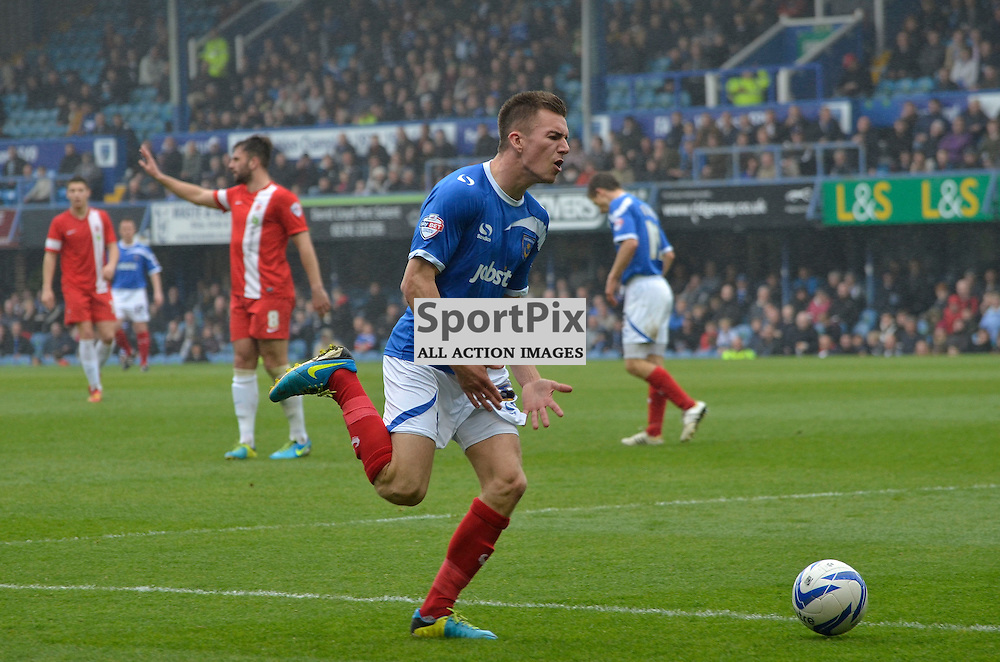 A frustrated Jed Wallace, Portsmouth v Hartlepool, Skybet League Two, 5th April 2014. (c) Michael Hulf | SportPix.org.uk