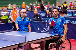 ITALY (CROSARA Federico and VELLA Giuseppe) during day 4 of 15th EPINT tournament - European Table Tennis Championships for the Disabled 2017, at Arena Tri Lilije, Lasko, Slovenia, on October 1, 2017. Photo by Ziga Zupan / Sportida