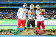 Niko Kappel of Germany wins Gold in the men's F41 Shot Put on Day One of the Rio Paralympics  in Rio de Janeiro, Brazil<br /> Picture by EXPA Pictures/Focus Images Ltd 07814482222<br /> 08/09/2016<br /> *** UK &amp; IRELAND ONLY ***<br /> <br /> EXPA-EIB-160909-0039.jpg