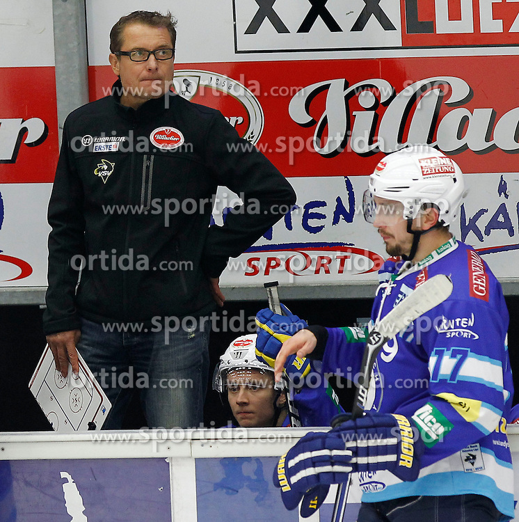 21.10.2012, Stadthalle, Villach, AUT, EBEL, EC VSV vs EHC Black Wings Linz, 14. Runde, im Bild Hannu Jaervenpaeae (VSV,Trainer) // during the Erste Bank Icehockey League 14th Round match between EC VSV vs EHC Black Wings Linz at the City Hall, Villach, Austria, 2012/10/21, EXPA Pictures © 2012, PhotoCredit: EXPA/ Oskar Hoeher