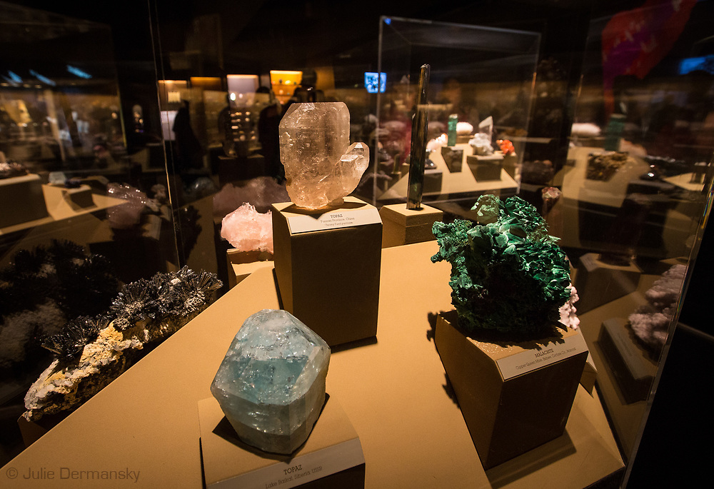 Minerals on dispaly at the  Natural History Museum of Los Angeles County
