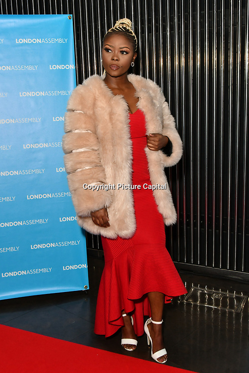 Gifty Louise attend Awareness gala hosted by the Health Committee with live music and poetry performances at City Hall at The Queen's Walk, London, UK. 18 March 2019.