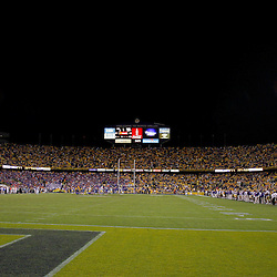 Oct 10, 2009; Baton Rouge, LA, USA; A general view during a game between the LSU Tigers and the Florida Gators at Tiger Stadium. Florida defeated LSU 13-3. Mandatory Credit: Derick E. Hingle-US PRESSWIRE
