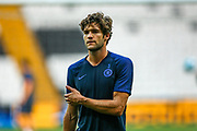 Chelsea defender Marcos Alonso (3) during the Chelsea Training session ahead of the 2019 UEFA Super Cup Final between Liverpool FC and Chelsea FC at BJK Vodafone Park, Istanbul, Turkey on 13 August 2019.