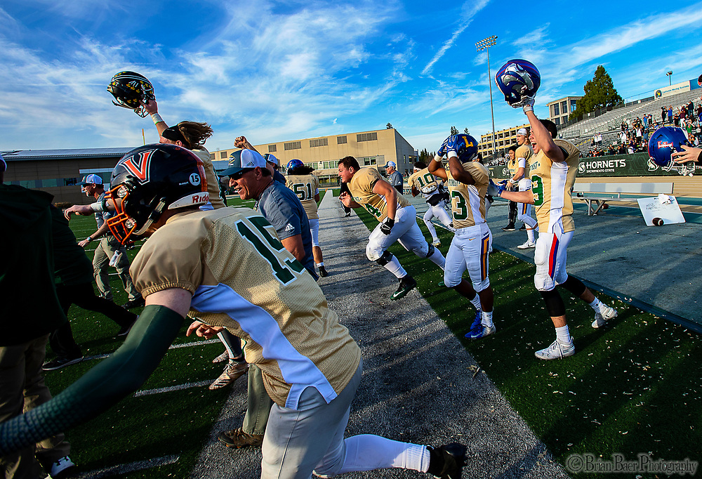 The South celebrates their 24-21 win over the North in the 61st annual Optimist All-Star Football game at hornet stadium at California State University, Sacramento, Saturday Jan 19, 2019.