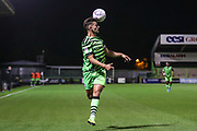 Forest Green Rovers Liam Shephard(2) controls the ball during the Leasing.com EFL Trophy match between Forest Green Rovers and Coventry City at the New Lawn, Forest Green, United Kingdom on 8 October 2019.