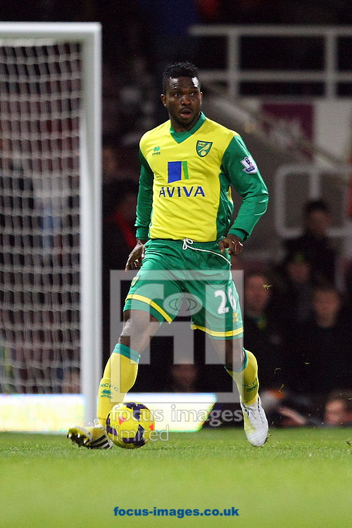 Picture by Paul Chesterton/Focus Images Ltd +44 7904 640267<br /> 11/02/2014<br /> Joseph Yobo of Norwich in action during the Barclays Premier League match at the Boleyn Ground, London