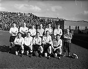 30/03/1958<br /> 03/30/1958<br /> 30 March 1958<br /> F.A.I. Cup Semi-Final: Dundalk v Shelbourne at Dalymount Park, Dublin. The Dundalk team.